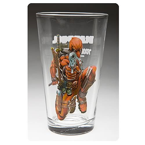 Deadpool Glass Toon Tumbler Pint Glass