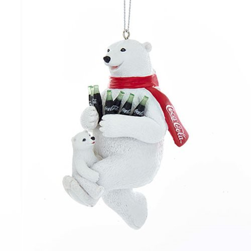 Coca-Cola Bear with Cub 4 1/4-Inch Resin Ornament