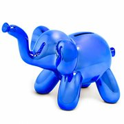 Balloon Animal Small Elephant Blue Money Bank