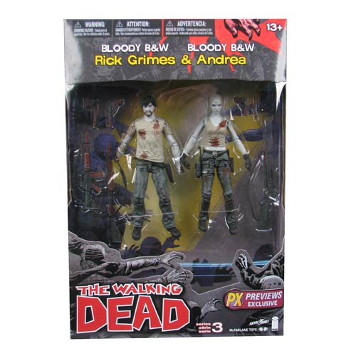 Walking Dead Series 3 Rick Grimes and Andrea Action Figure 2-Pack - Previews Exclusive