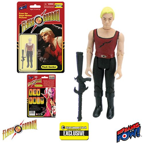 Flash Gordon Flash in Red Tank Shirt with Black Lightning Bolt 3 3/4-Inch Action Figure - Entertainment Earth Exclusive