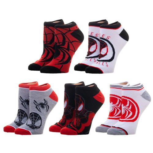 Marvel Miles Morales Ankle Sock 5-Pack