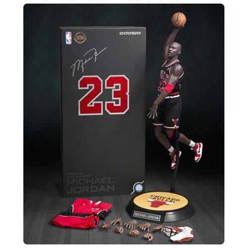 timeless design d4867 f907d Michael Jordan Bulls 23 Black Road Jersey Real Masterpiece Figure
