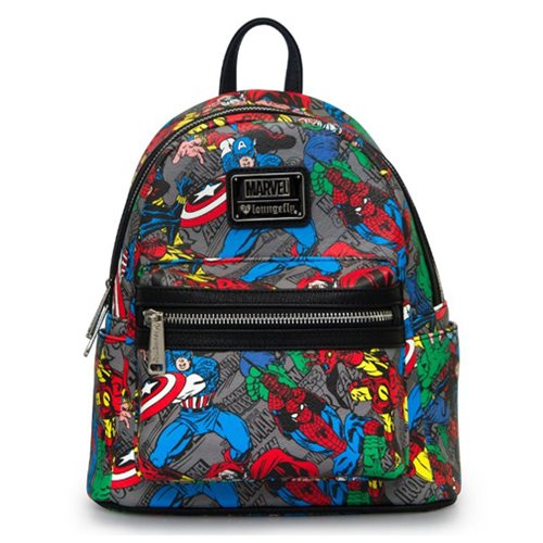 Marvel Character Print Mini Fashion Backpack