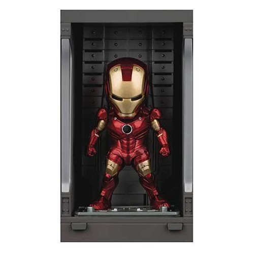Iron Man 3 MEA-015 Iron Man MK III Action Figure with Hall of Armor Display - Previews Exclusive