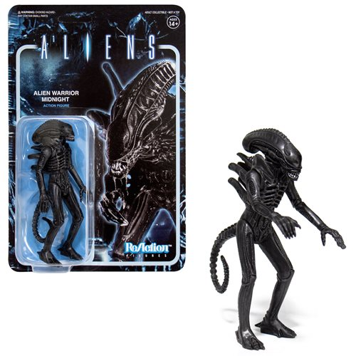Aliens Alien Warrior Midnight 3 3/4-Inch ReAction Figure
