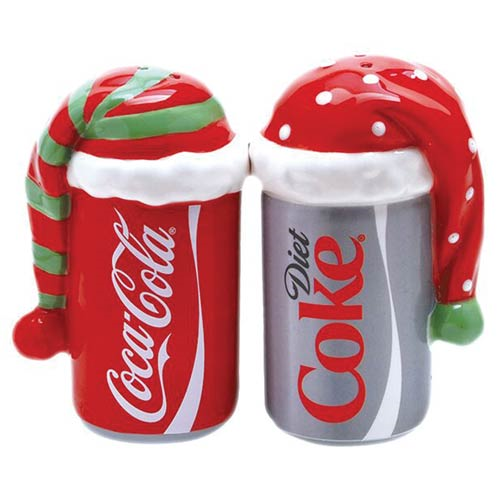 Coca-Cola Cans Bundled Up Salt and Pepper Shakers