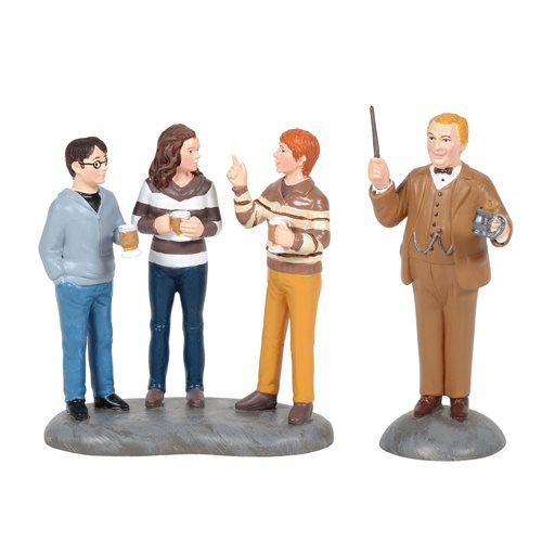 Harry Potter Village Professor Slughorn and The Trio Statue