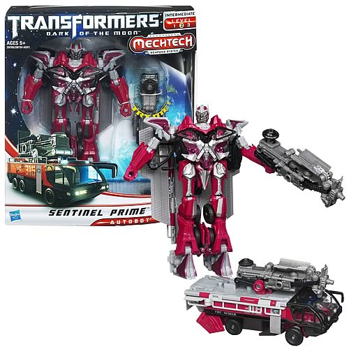 Transformers Dark of the Moon Mechtech Sentinel Prime Autobot Action Figures Toy