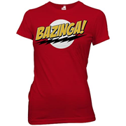 Big Bang Theory Bazinga! Red Juniors T-Shirt