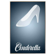 Cinderella Minimalist Wood Wall Art
