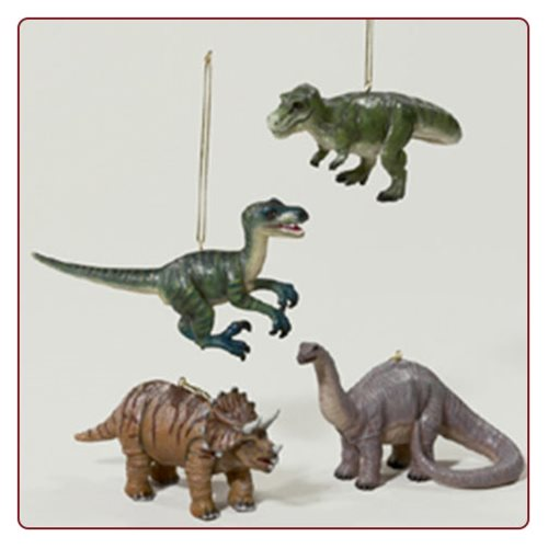 Dinosaur 3-Inch Resin Ornament Random 4-Pack