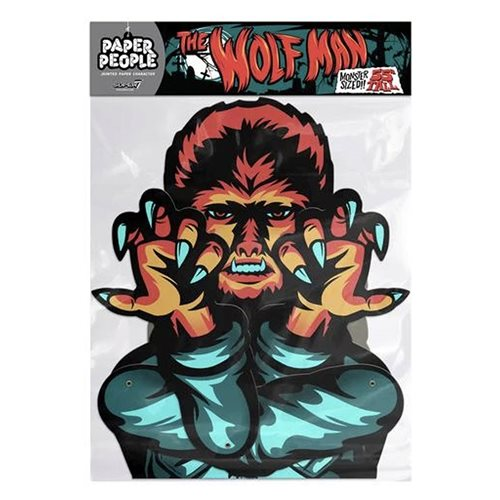 Universal Monsters Wolfman Paper People