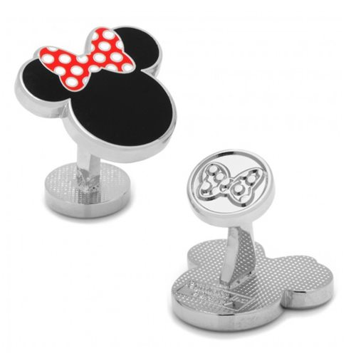 Minnie Mouse Silhouette Black Cufflinks