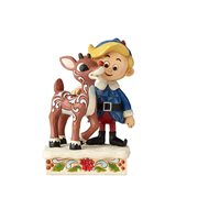 Rudolph the Red-Nosed Reindeer Hermey Hugging Rudolph Statue by Jim Shore
