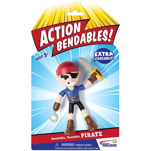 Action Bendables Pirate 4-Inch Bendable Action Figure