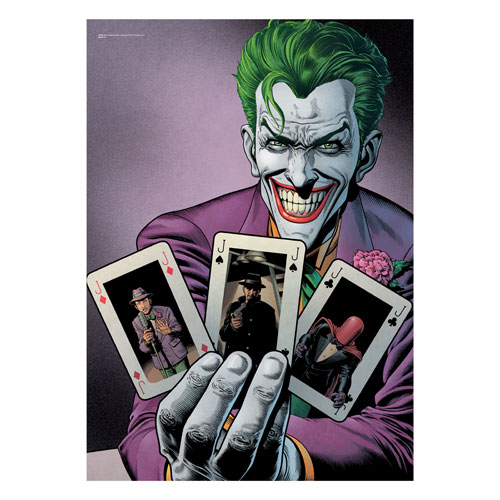 DC Comics Batman Joker Cards MightyPrint Wall Art
