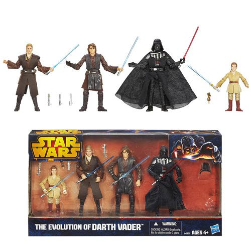 Star Wars Evolutions Anakin Skywalker To Darth Vader Action Figure Gift Set Entertainment Earth