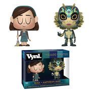 Shape of Water Elisa and Amphibian Man Vynl. Figure 2-Pack