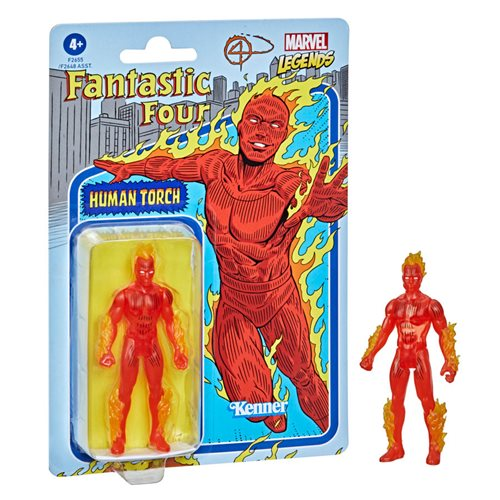 Marvel Legends Retro Fantastic 4 Human Torch Action Figure