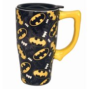 Batman Logo 18 oz. Ceramic Travel Mug with Handle