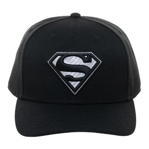 Superman Carbon Fiber Pre-Curved Snapback Hat