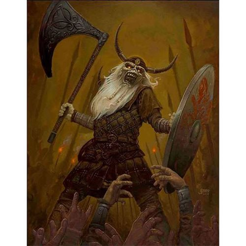 Iron Maiden Viking Eddie by Jaime Carrillo Lithograph Art Print