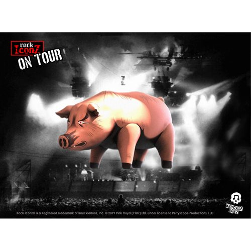 Rock Iconz On Tour Pink Floyd Pig Statue