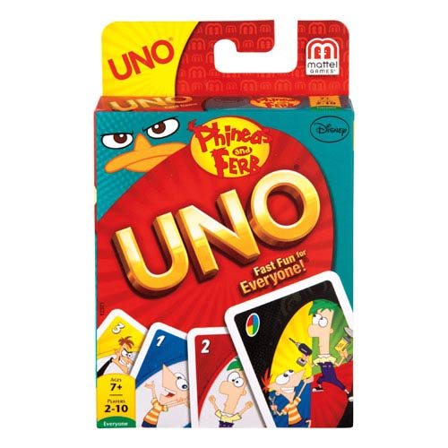 UNO Phineas And Ferb Game