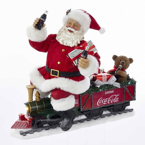 Coca-Cola Santa Train LED Statue