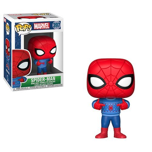 Marvel Holiday Spider-Man Ugly Sweater Pop! Vinyl Figure #397, Not Mint