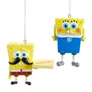 SpongeBob SquarePants Memes Blow-Mold Ornament 2-Pack