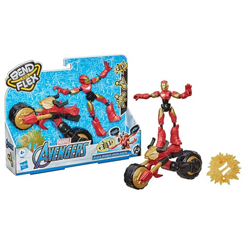 Marvel Bend and Flex Rider Iron Man and Motorcycle