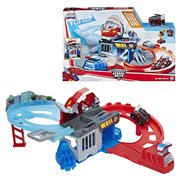 Transformers Rescue Bots Flip Racers Chomp and Chase Raceway