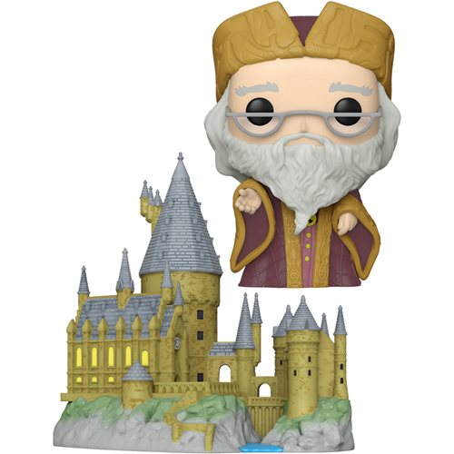 Harry Potter 20th Dumbledore with Hogwarts Pop! Town