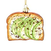 Avocado Toast 3 3/4-Inch Glass Ornament