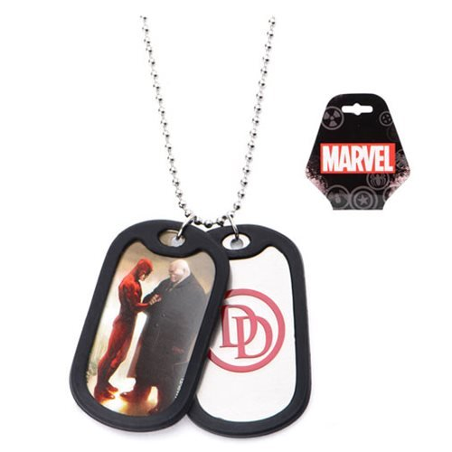 Daredevil Graphic Logo Double Dog Tag Necklace