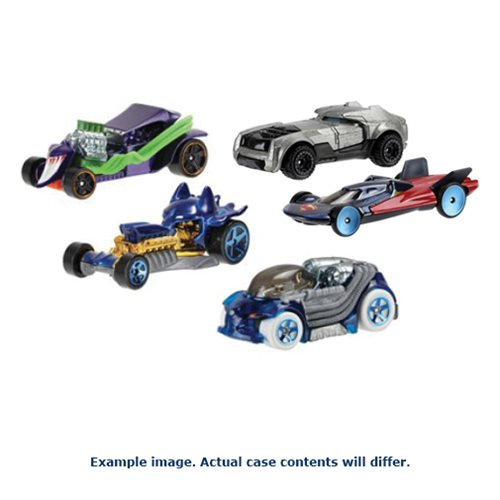 DC Comics Hot Wheels 1:64 Character Car Wave 1 Case