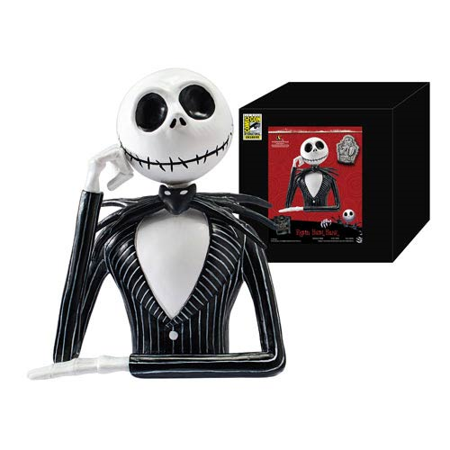 Nightmare Before Christmas Jack Skellington SDCC 2013 Exclusive Resin Bust Bank