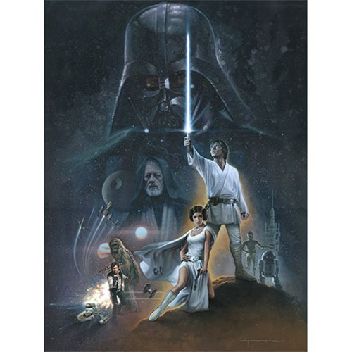 Star Wars The Hopeful by Jerry Vanderstelt Canvas Giclee Art Print