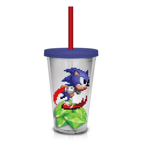 Sonic the Hedgehog Pixilated Sonic 16 Oz. Travel Cup