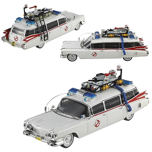 Ghostbusters Ecto-1 Hot Wheels Elite 1:43 Scale Vehicle