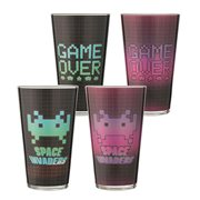 Space Invaders 16 oz. Laser Decal Glass 2-Pack