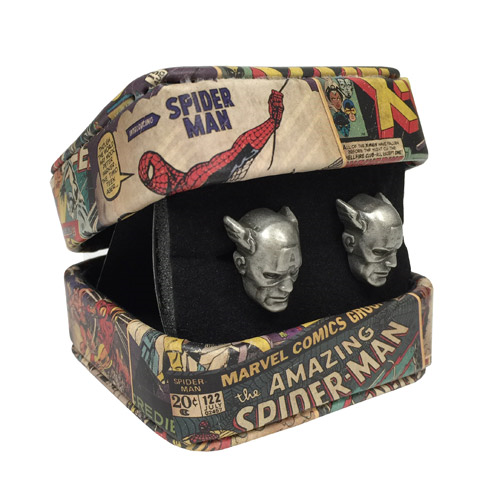 Captain America Marvel 3-D Cufflinks