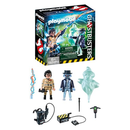 Playmobil 9224 Ghostbusters Spengler and Ghost Action Figures