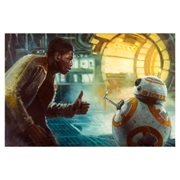 Star Wars: The Force Awakens Thumbs Up by Christopher Clark Canvas Giclee Art Print