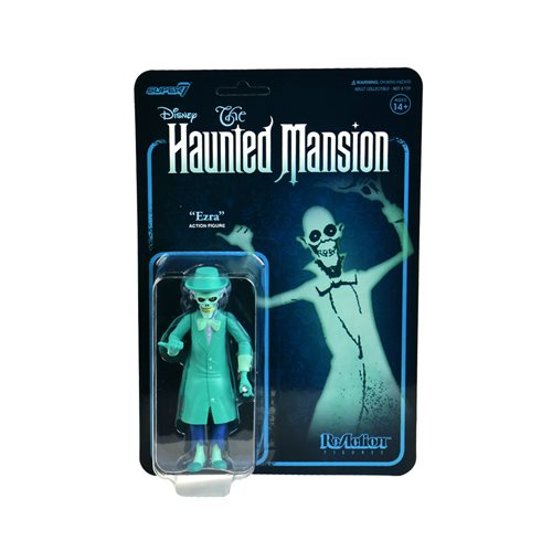 Haunted Mansion Skeleton Ghost Blue 3 3/4-Inch ReAction Figure