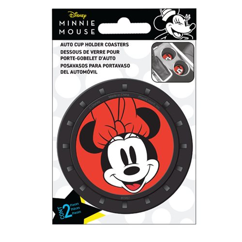 Minnie Mouse 2-Pack Car Cup Coaster Set
