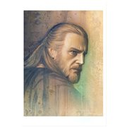 Star Wars Timeless Series Qui-Gon Jinn by Jerry Vanderstelt Paper Giclee Art Print
