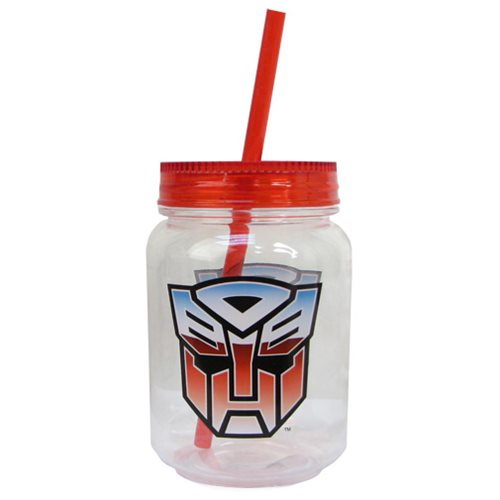 Transformers Acrylic 18 oz. Mason Jar